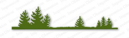 DIE086 B ~ FIR TREE BORDER ~ Impression Obsession dies